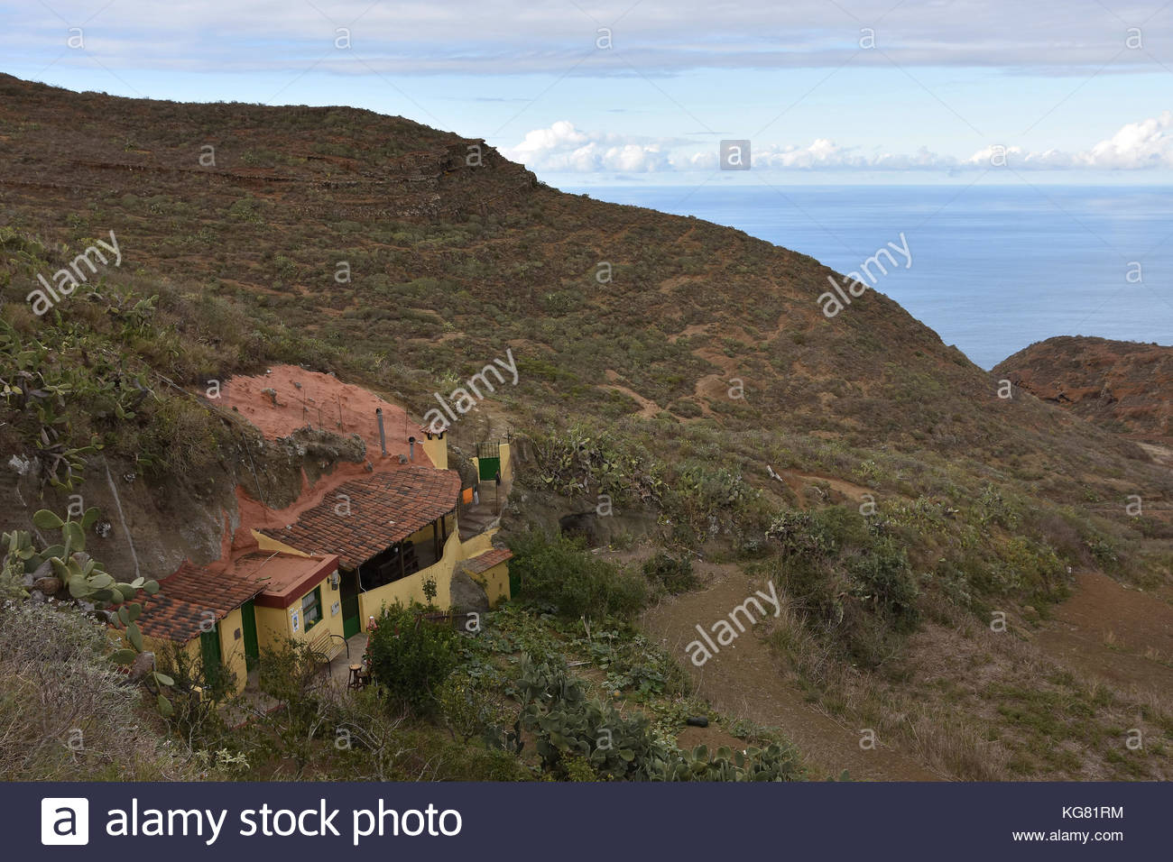 Ländliche Haus anagagebirge Atlantikküste Teneriffa Kanarische Inseln Makaronesien (Spanien). Stockbild