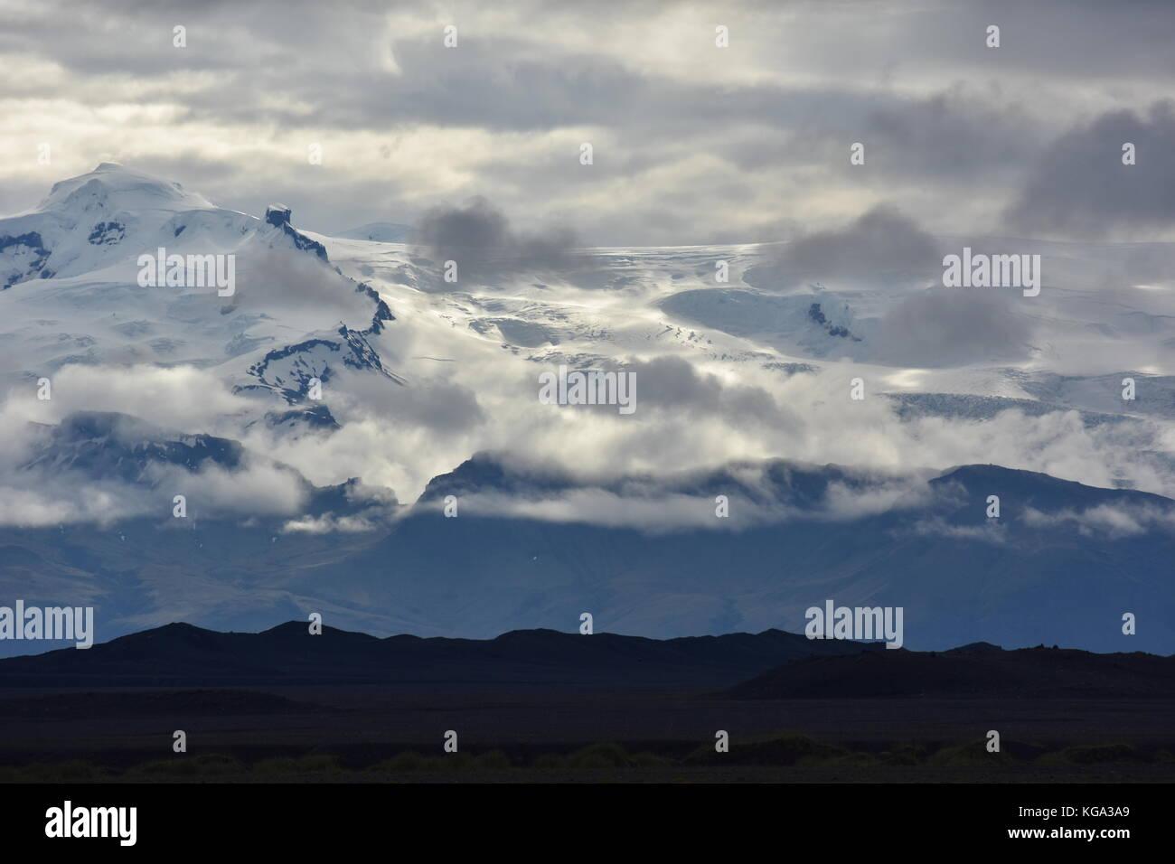 Skaftafell Eis in Island Stockbild