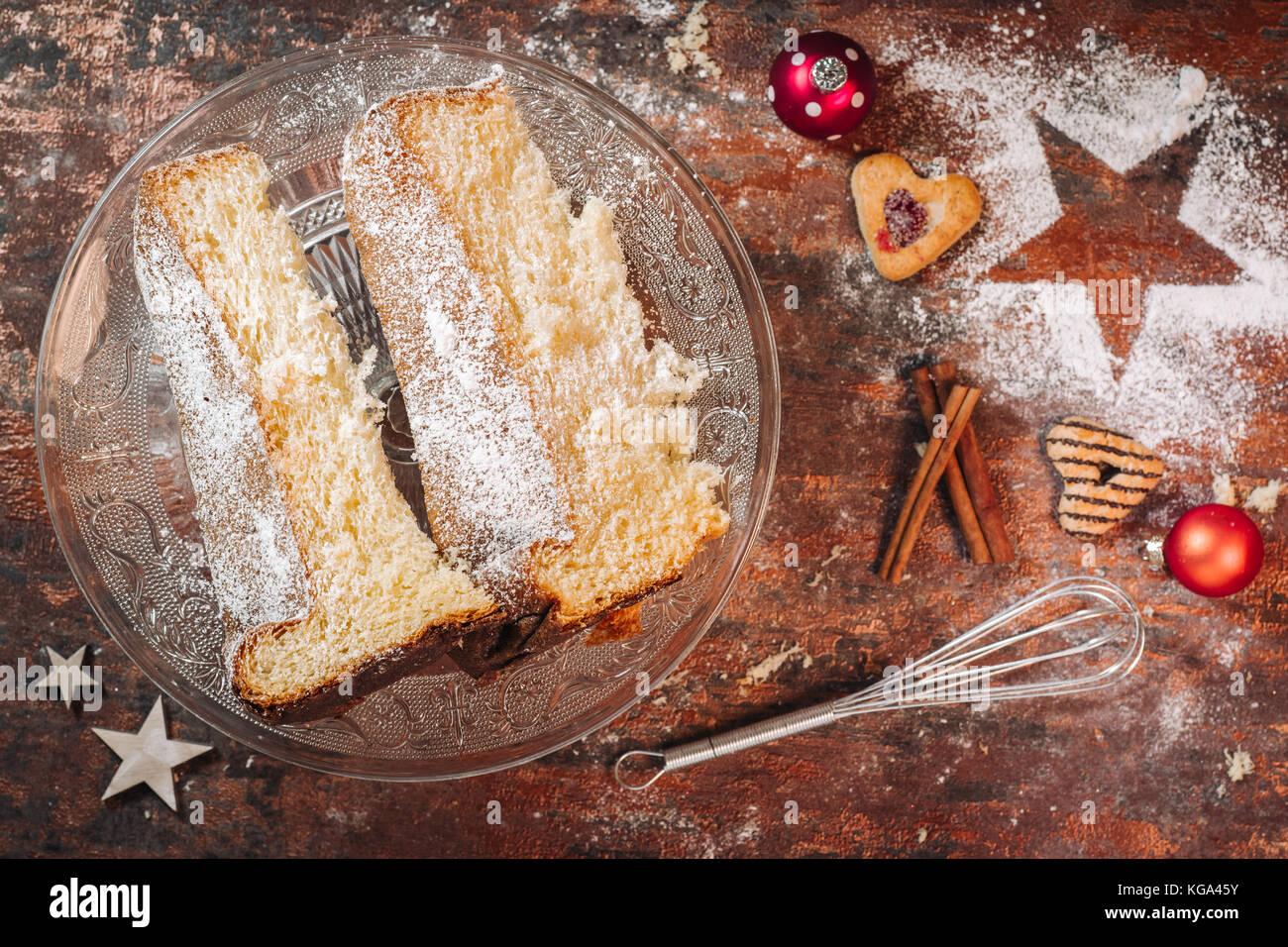 Traditionelle Italienische Pandoro Kuchen Weihnachten Zu Feiern
