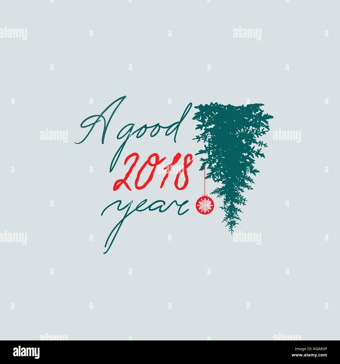 Frohes neues Jahr unterzeichnen. handschriftliche Schriftzug ein ...