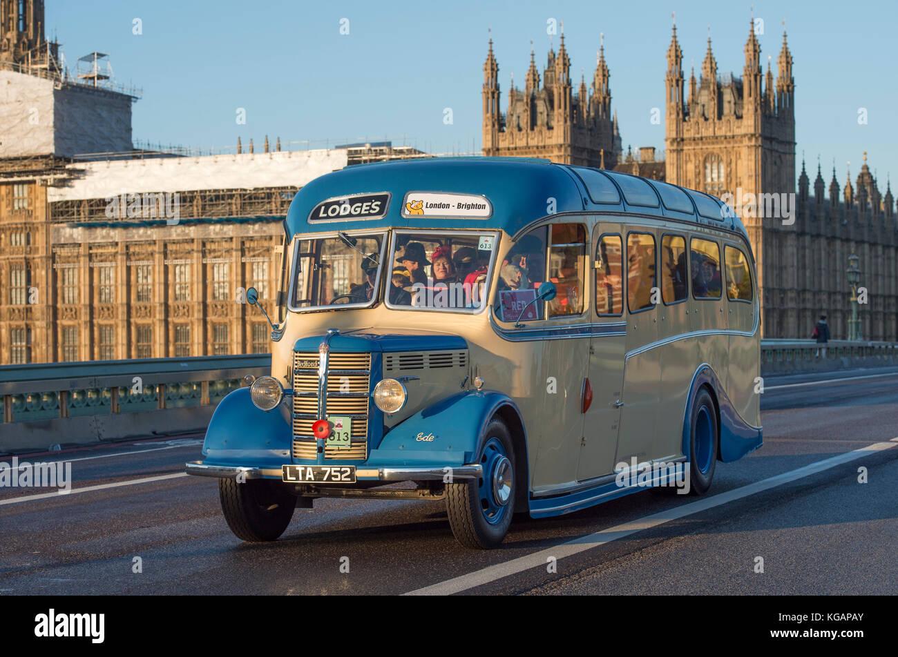 5. november 2017. bonhams London nach Brighton Veteran Car Run, der weltweit am längsten laufende Autofahren Stockbild