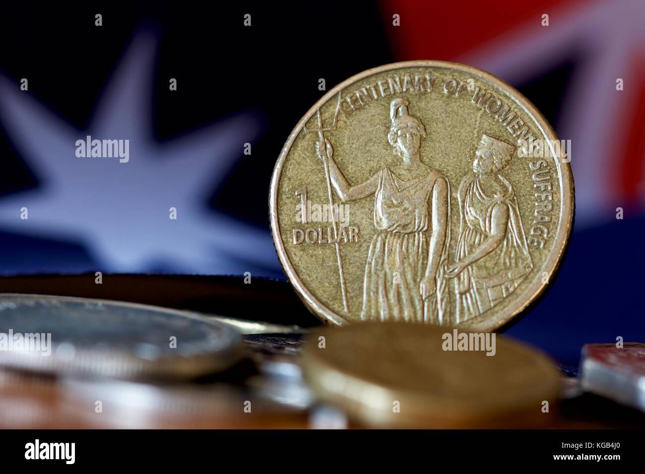 Australische 1 Dollar Goldmünze Zum Gedenken An Den 100 Jahrestag