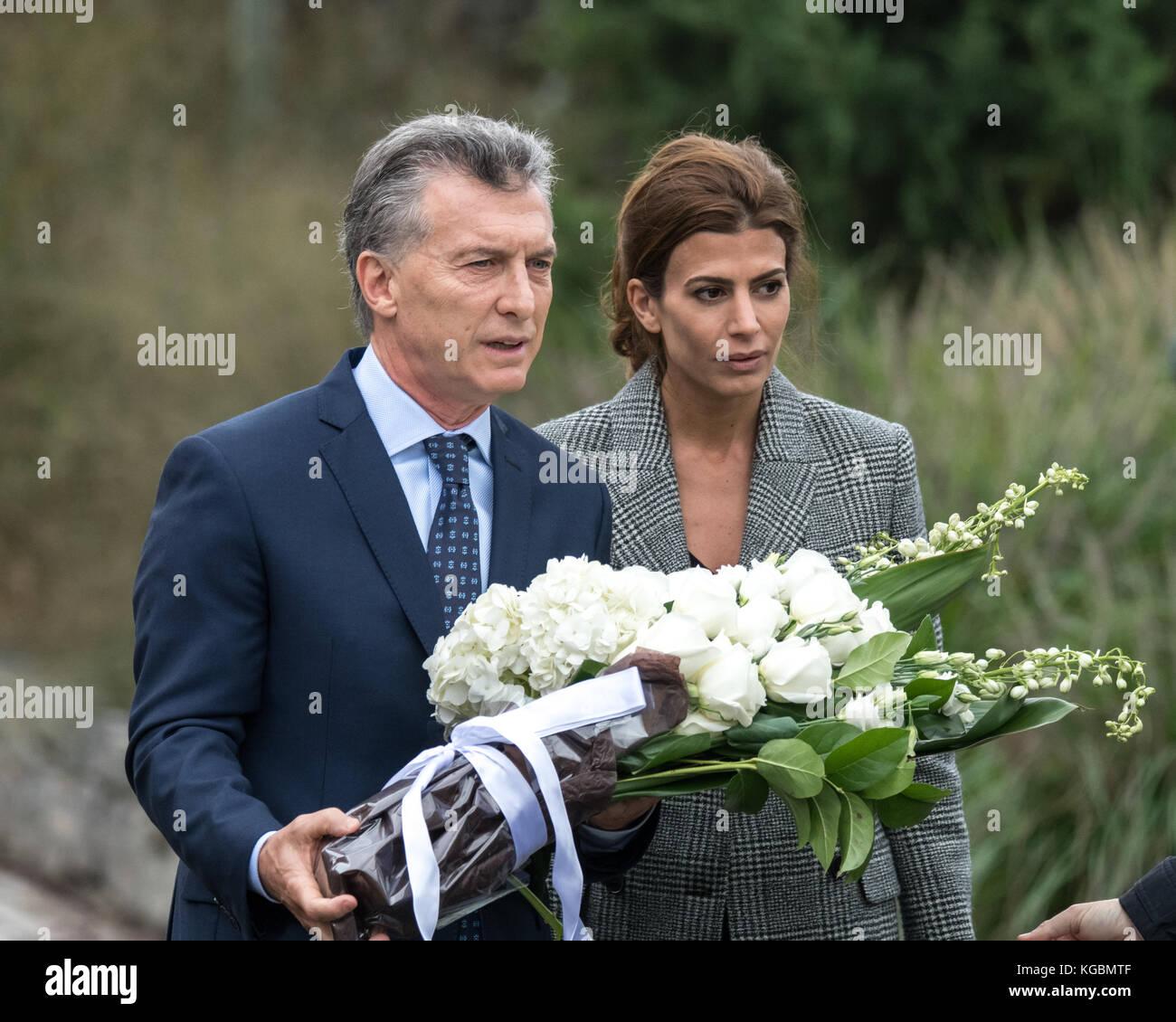 New York, USA, 6 Nov, 2017. argentinische Präsident mauricio Macri ...