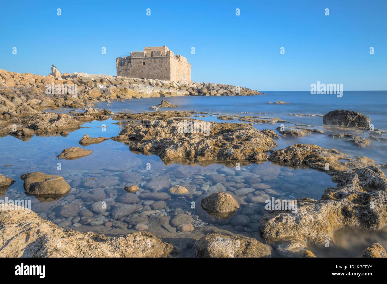 Burg von Paphos, Paphos, Zypern Stockbild