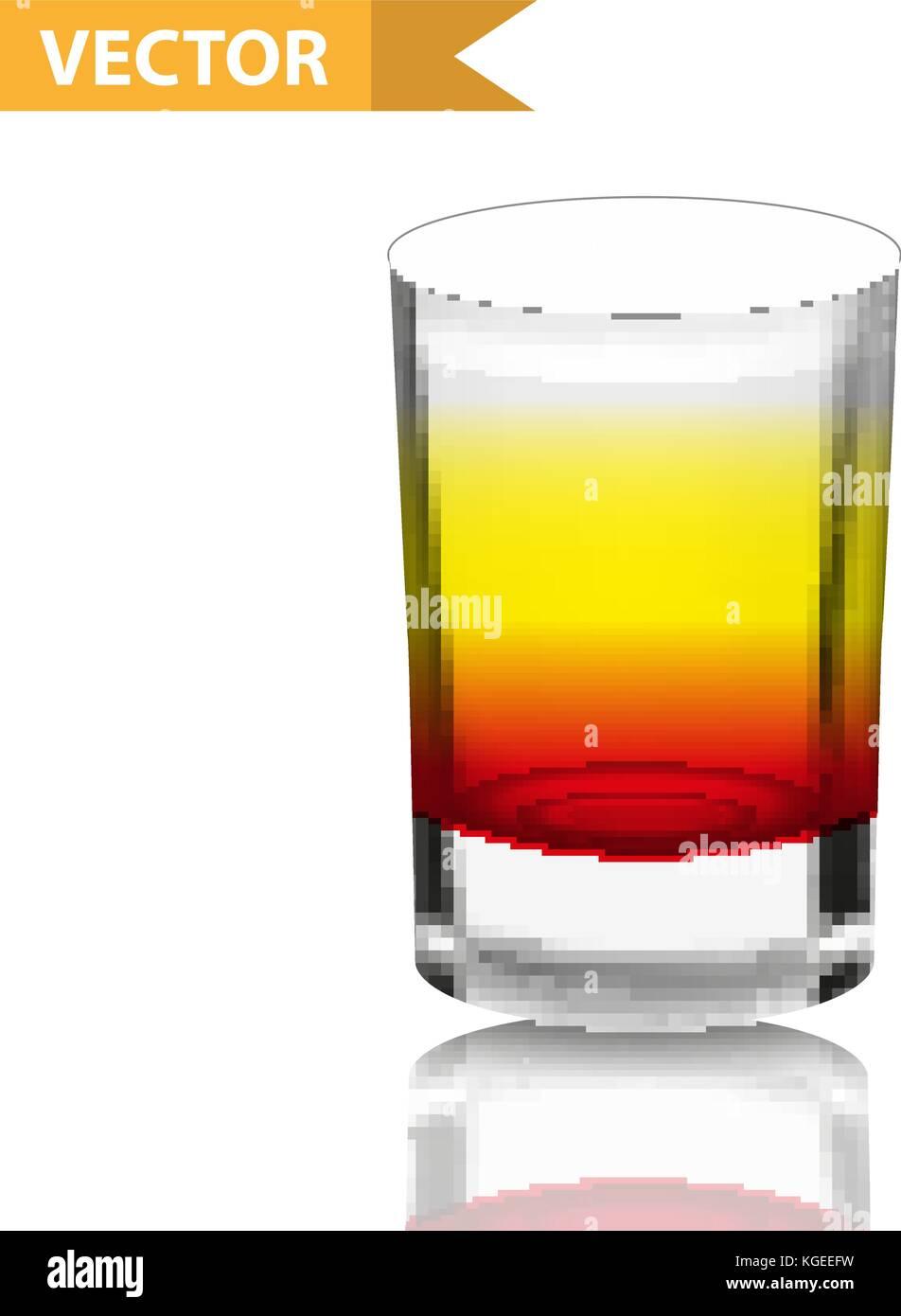 Realistische aufnahmen Cocktails. 3d-shot mit Getränken für Bars ...