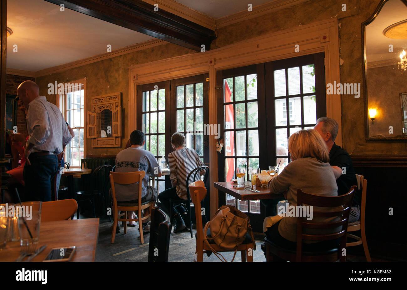 Karlas Restaurant in neue Hoffnung - Pennsylvania - USA Stockbild