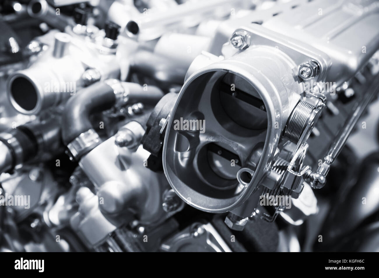 Car Engine Fragment Automobile Motor Stockfotos & Car Engine ...