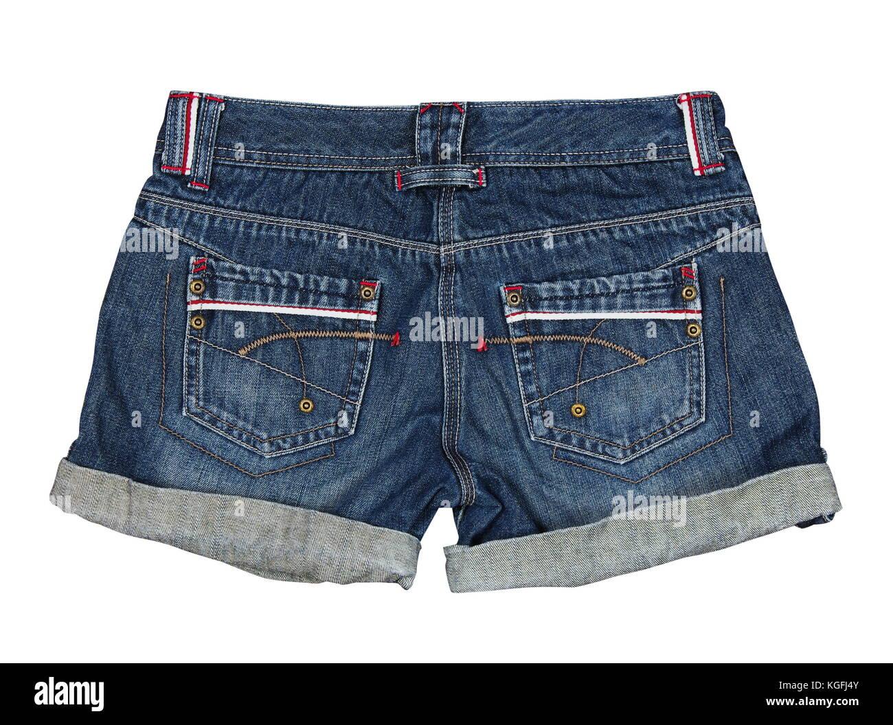 092ae9e57066 Jeans Shorts auf dem weißen Stockfoto, Bild  165071339 - Alamy