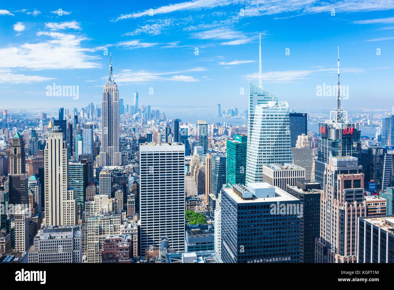Manhattan Skyline, New York Skyline, Empire State Building, New York City, Vereinigte Staaten von Amerika, Nordamerika, Stockbild