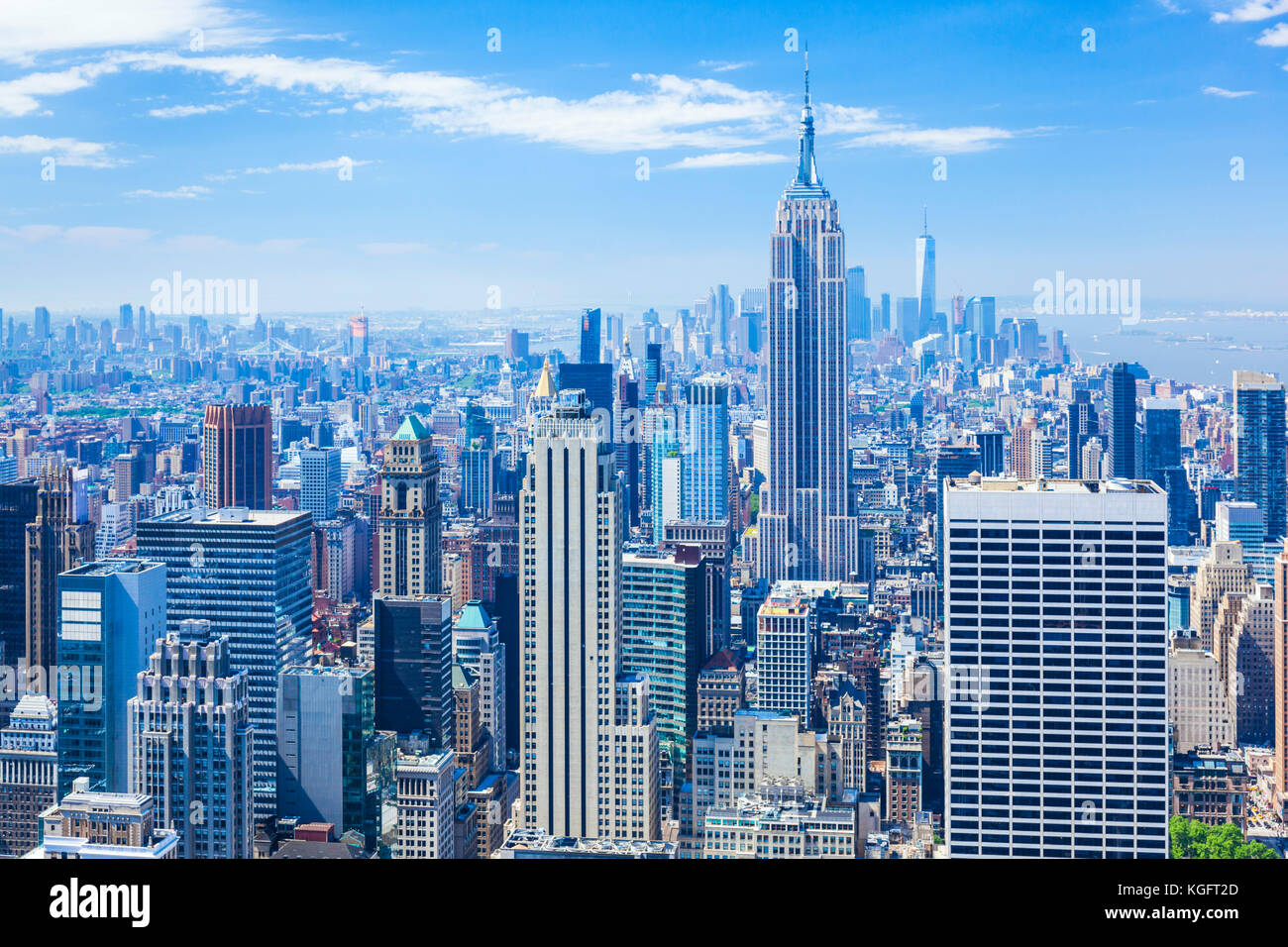 Manhattan Skyline, New York Skyline, Empire State Building, New York City, Vereinigte Staaten von Amerika, Nordamerika, Stockbild