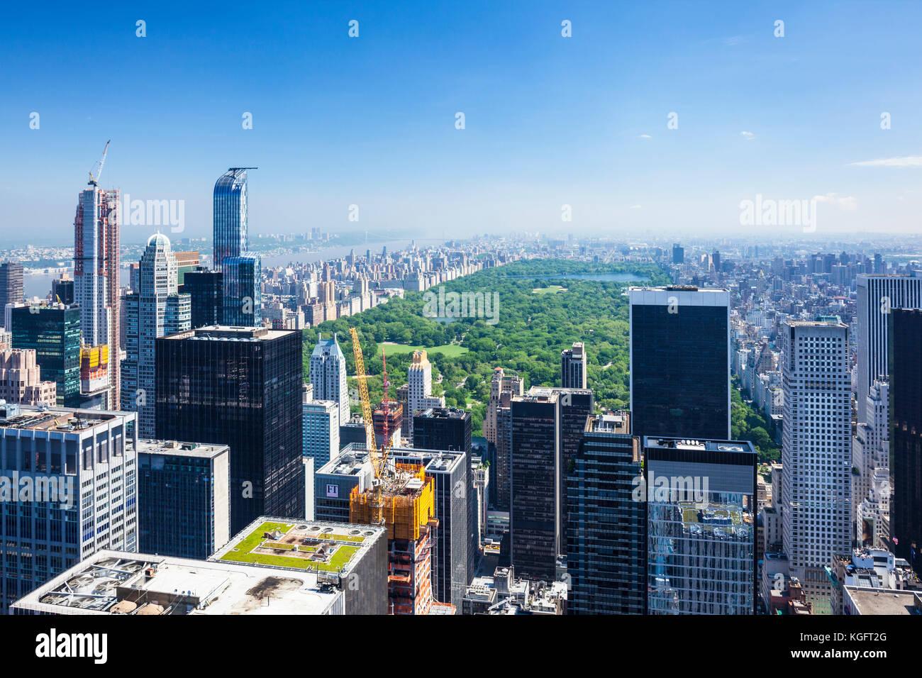 New York USA New York New York Skyline Skyline von Manhattan Stockbild