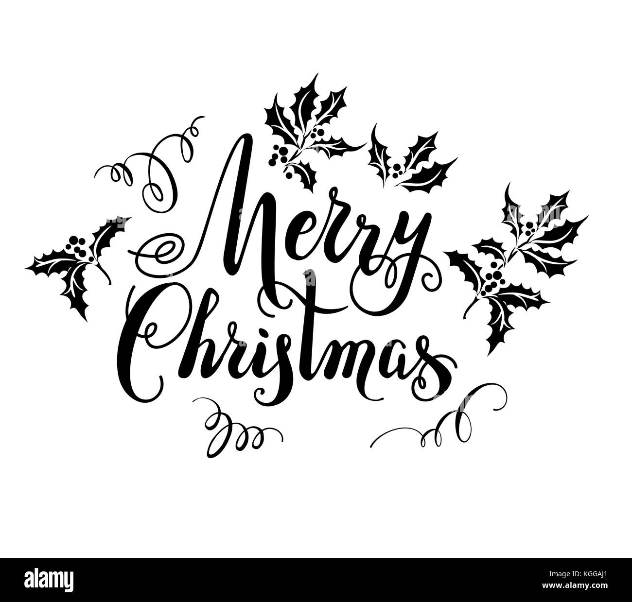 merry christmas hand lettering signature stockfotos. Black Bedroom Furniture Sets. Home Design Ideas