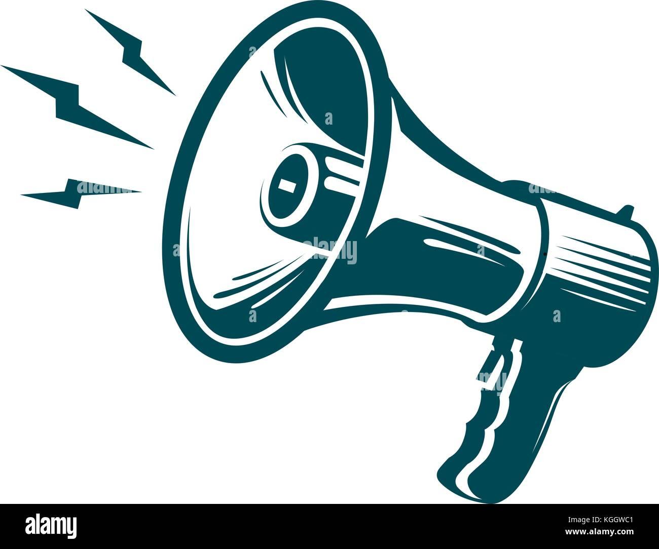 Megaphon, Lautsprecher Symbol. Werbung, Marketing, Nachrichten ...