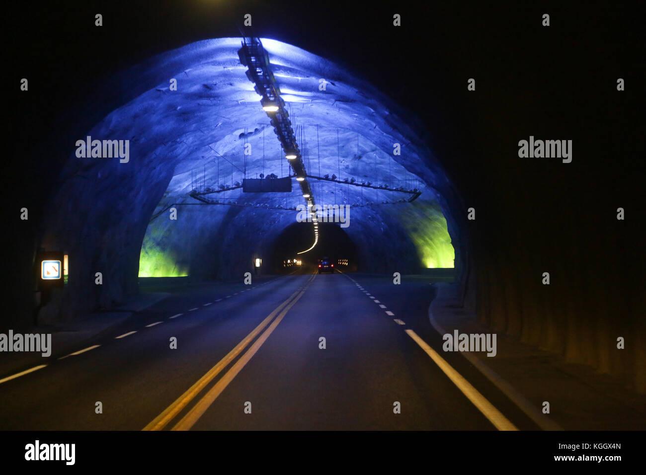Laerdal Tunnel In Norwegen Der Längste Straßentunnel Der Welt