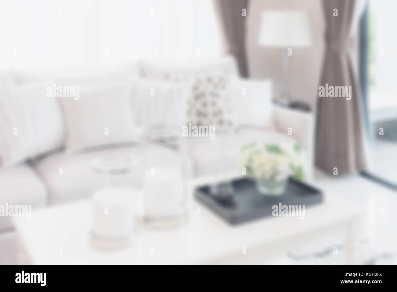 Verschwommen Modernes Wohnzimmer Mit Sofa Und Lampe Für Hintergrund