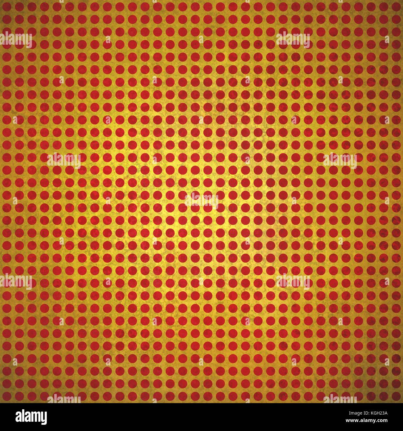 Vintage gold Polka gepunkteten Hintergrund rote Flecken auf Gold ...