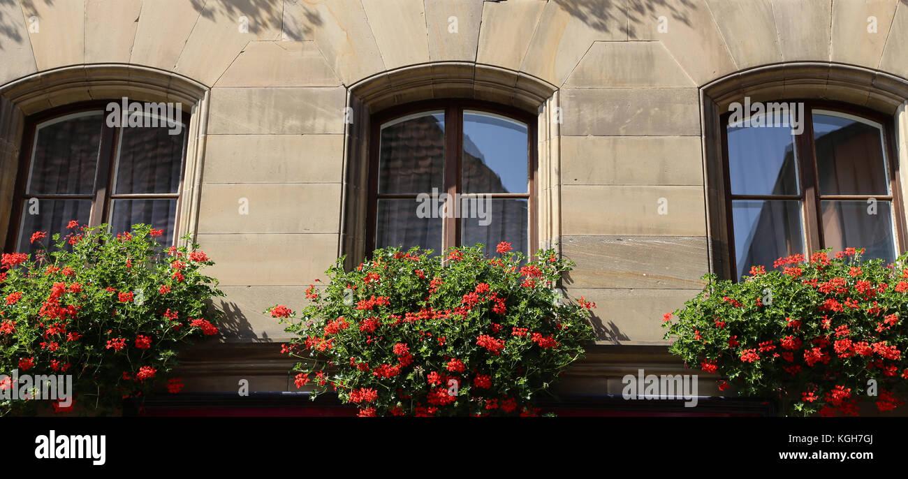 Fenster Mit Blumen Fenster Mit Schonen Blumen Auf Der Fensterbank