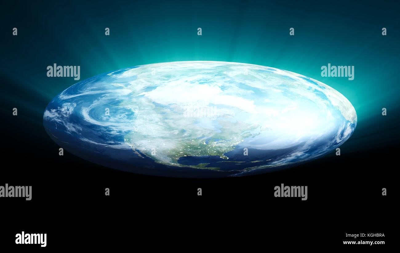 Flache Erde Karte Kaufen.Flache Erde Auf Schwarzem Hintergrund Digitale Illustration