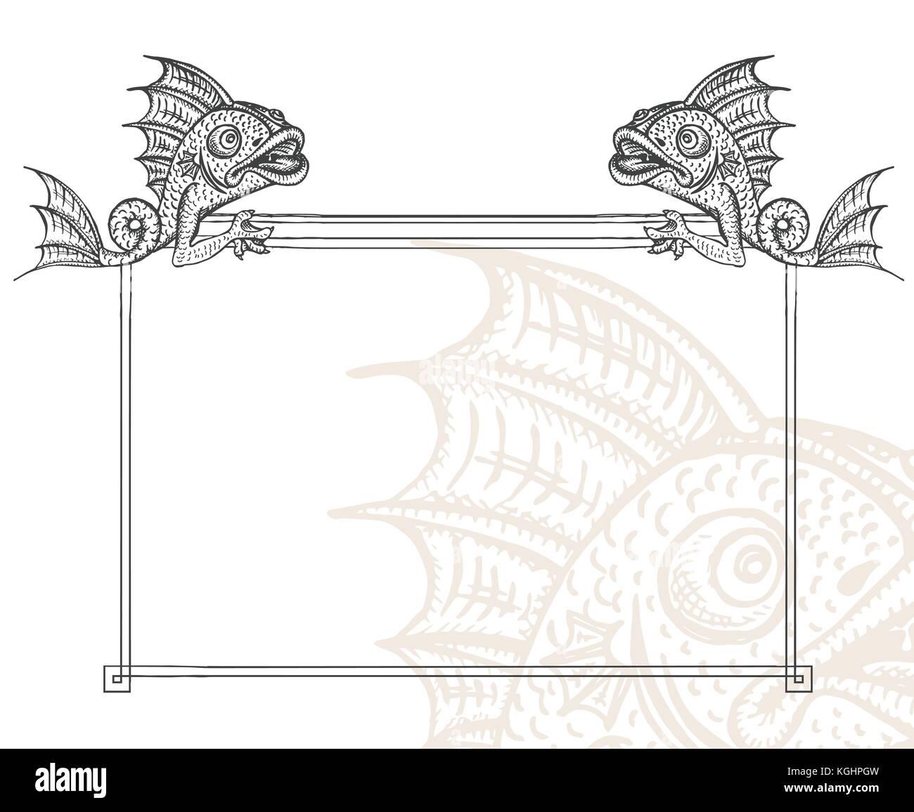Decorative Border Engraving Stockfotos & Decorative Border Engraving ...