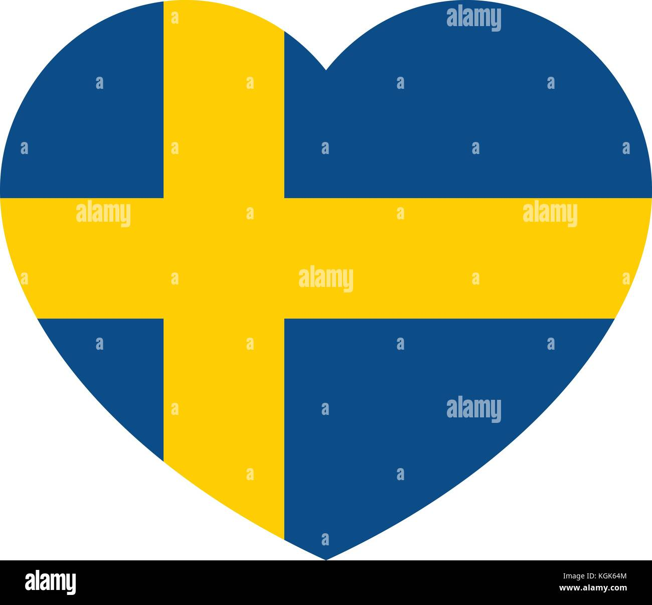 schweden flagge in das herz die schwedische flagge vector illustration vektor abbildung bild. Black Bedroom Furniture Sets. Home Design Ideas