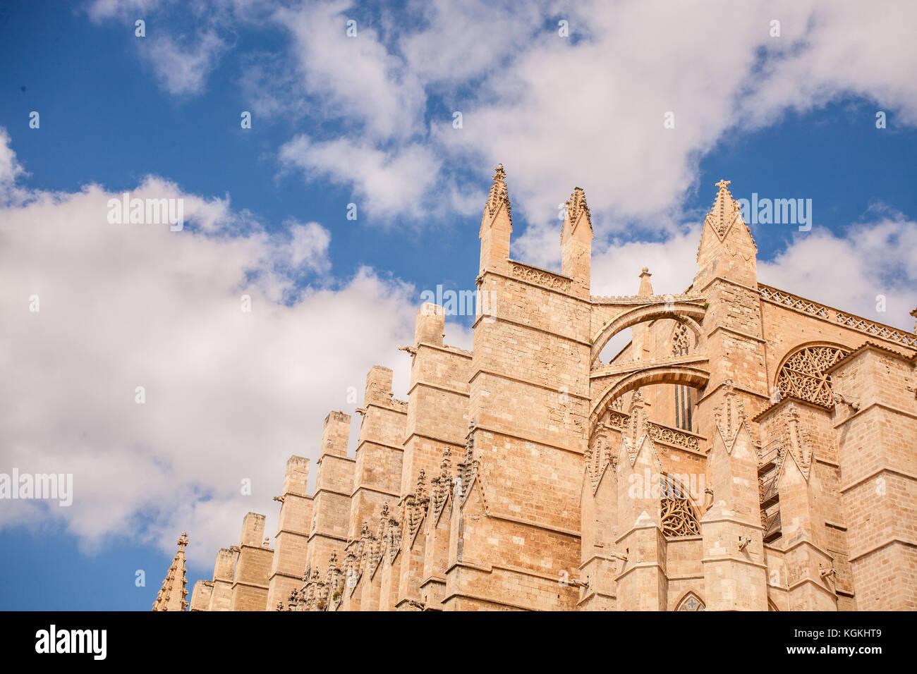 Kathedrale La Seu in Palma de Mallorca, einem beliebten Reiseziel Stockbild