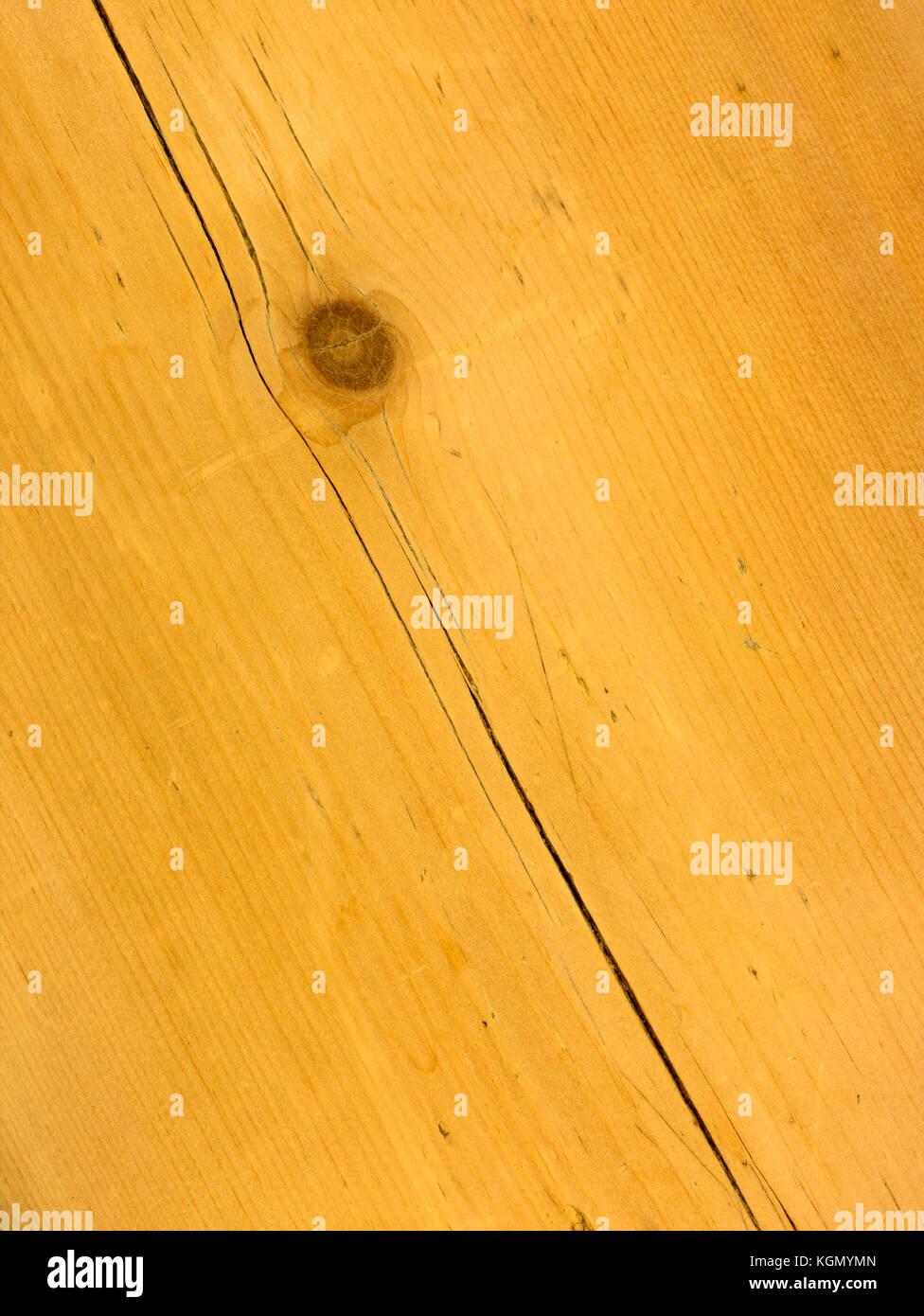 Eine hölzerne Tabelle Top Shot von Overhead Stockbild