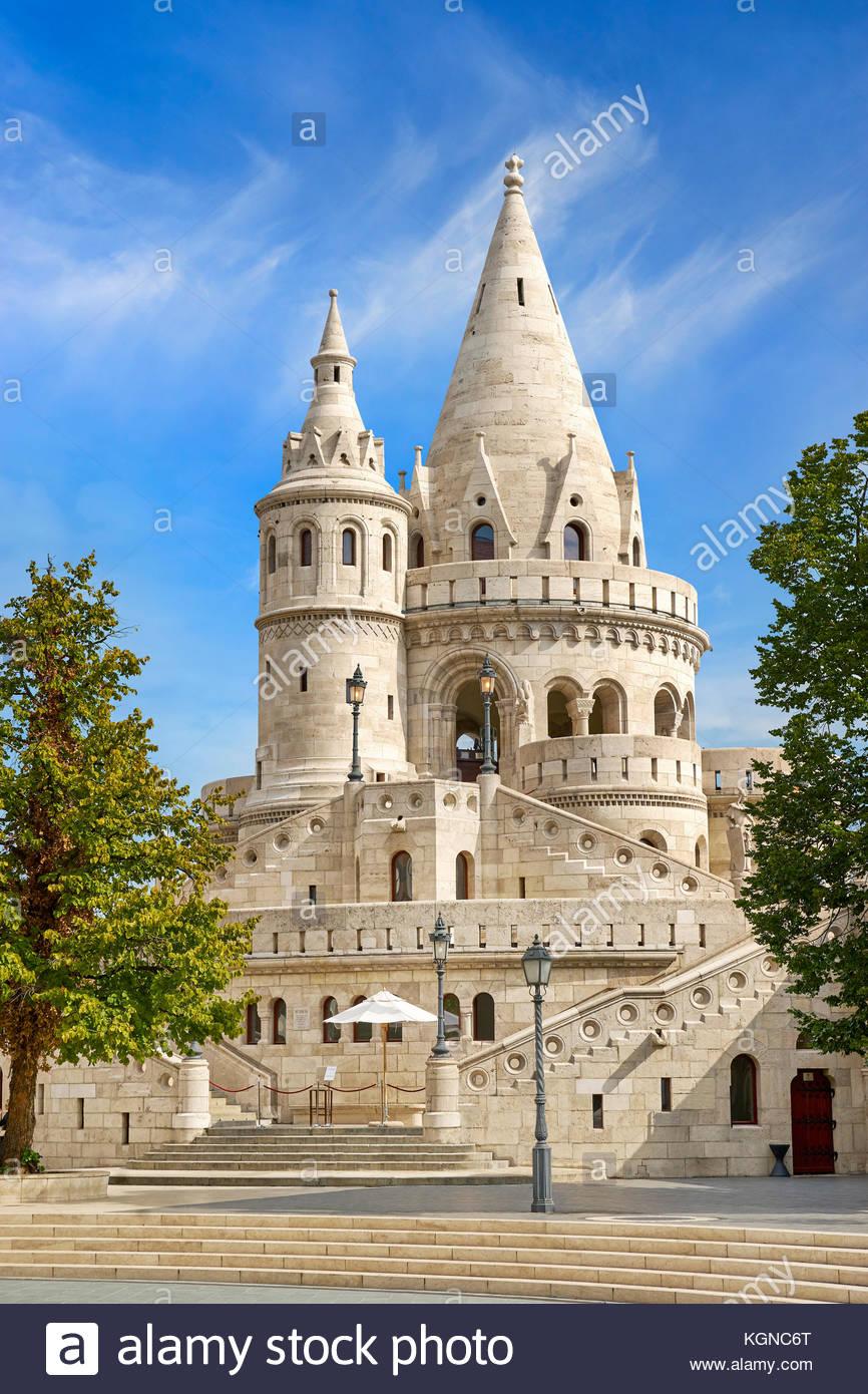 Fischerbastei, Budapest, Ungarn Stockbild