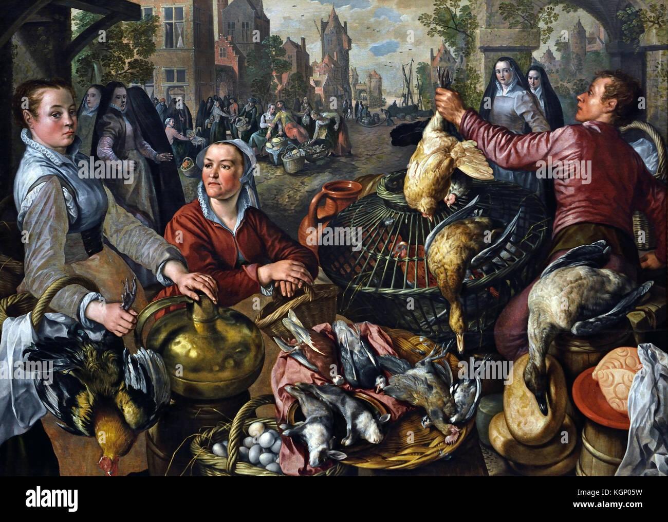 Die vier Elemente: Luft 1570 Joachim Beuckelaer 1533 - 1575 Flämische Belgien Belgische Stockbild