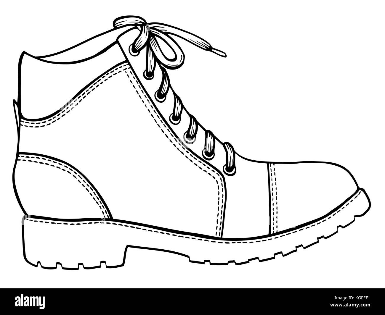 Hand Gezeichnet Abbildung Schuh Skizze Symbol Auf Weissem Hintergrund
