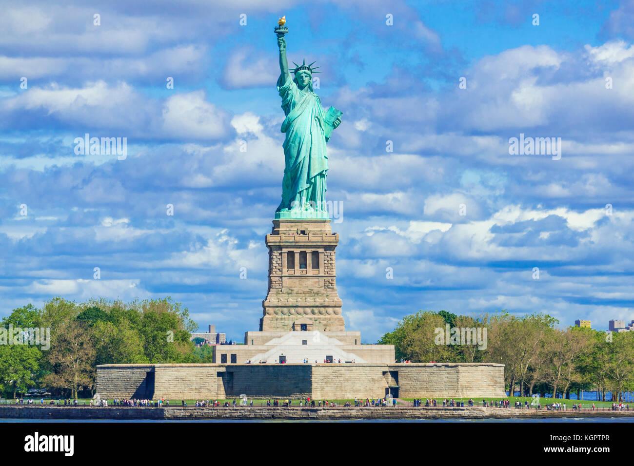 Freiheitsstatue New York Freiheitsstatue New York Statue of Liberty Island New York State usa us Vereinigte Staaten Stockbild