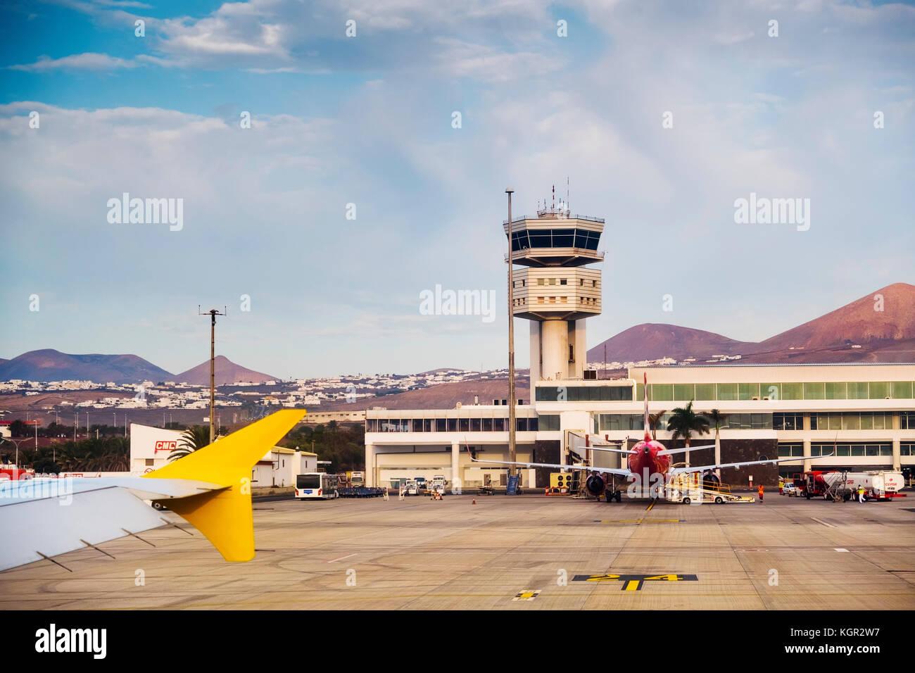 Flughafen Lanzarote Lanzarote Insel. Kanarische Inseln Spanien. Europa Stockbild