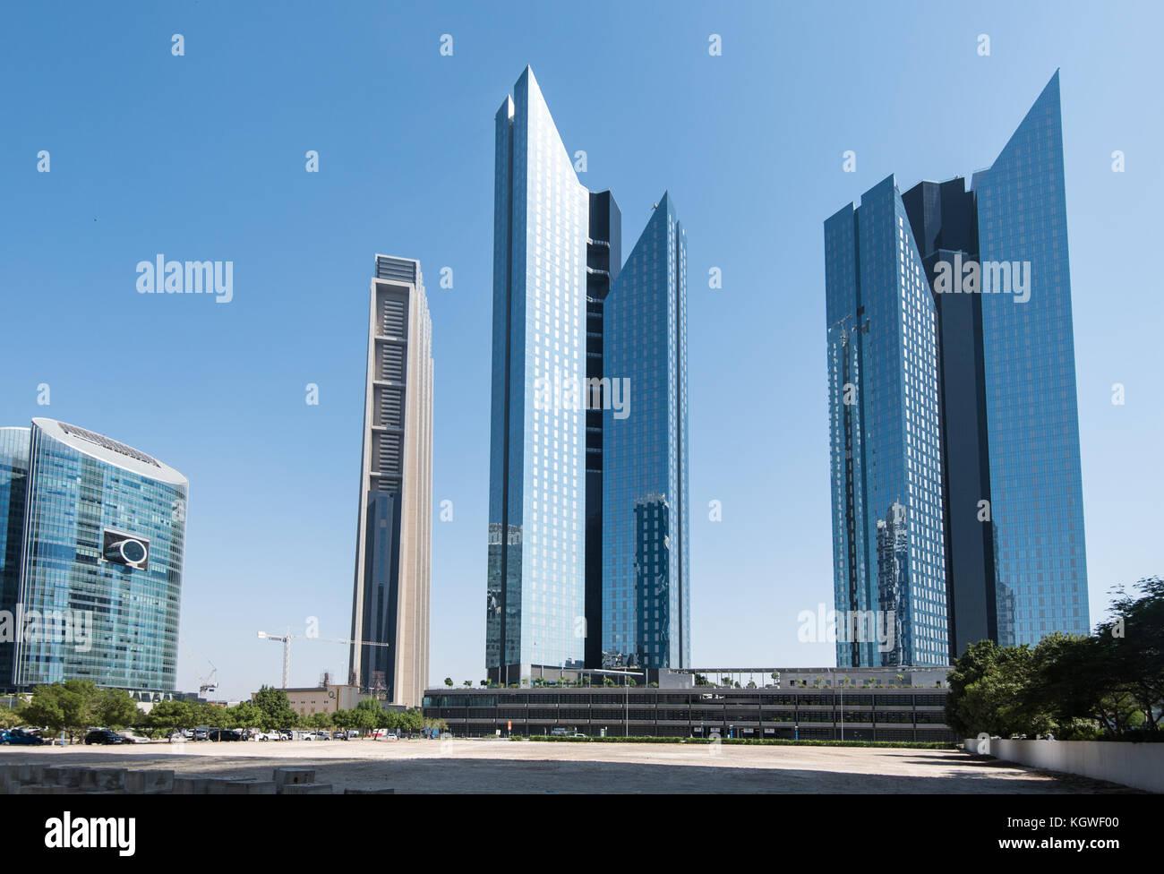 Dubai, Vae - 29 Okt 2017: Central Park Towers im difc, Dubai ist der Index der Turm kann auch auf der rechten Seite Stockbild