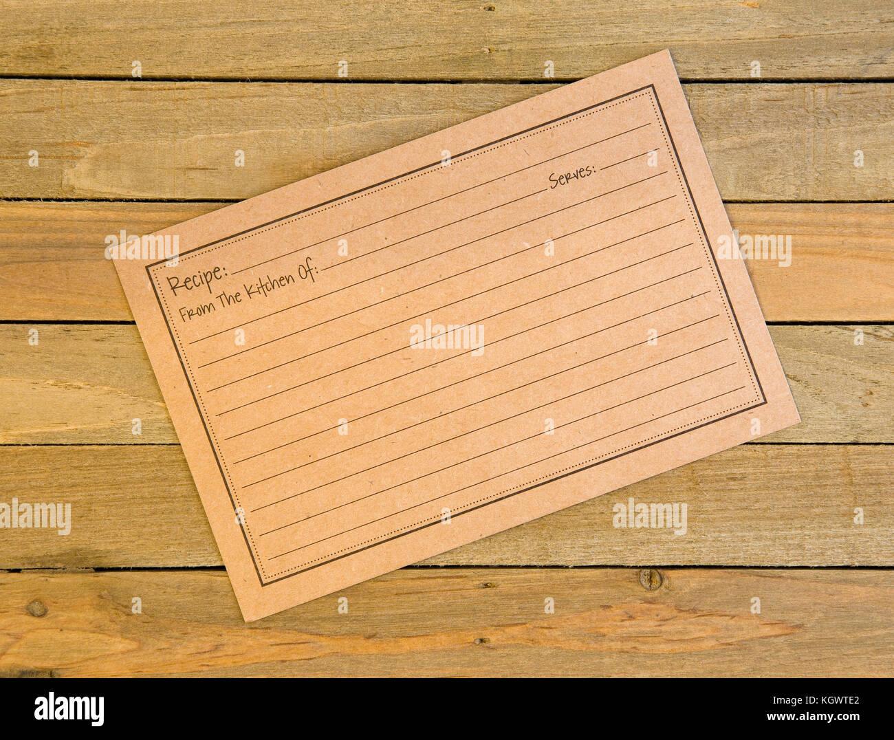 Recipe Card Stockfotos & Recipe Card Bilder - Alamy
