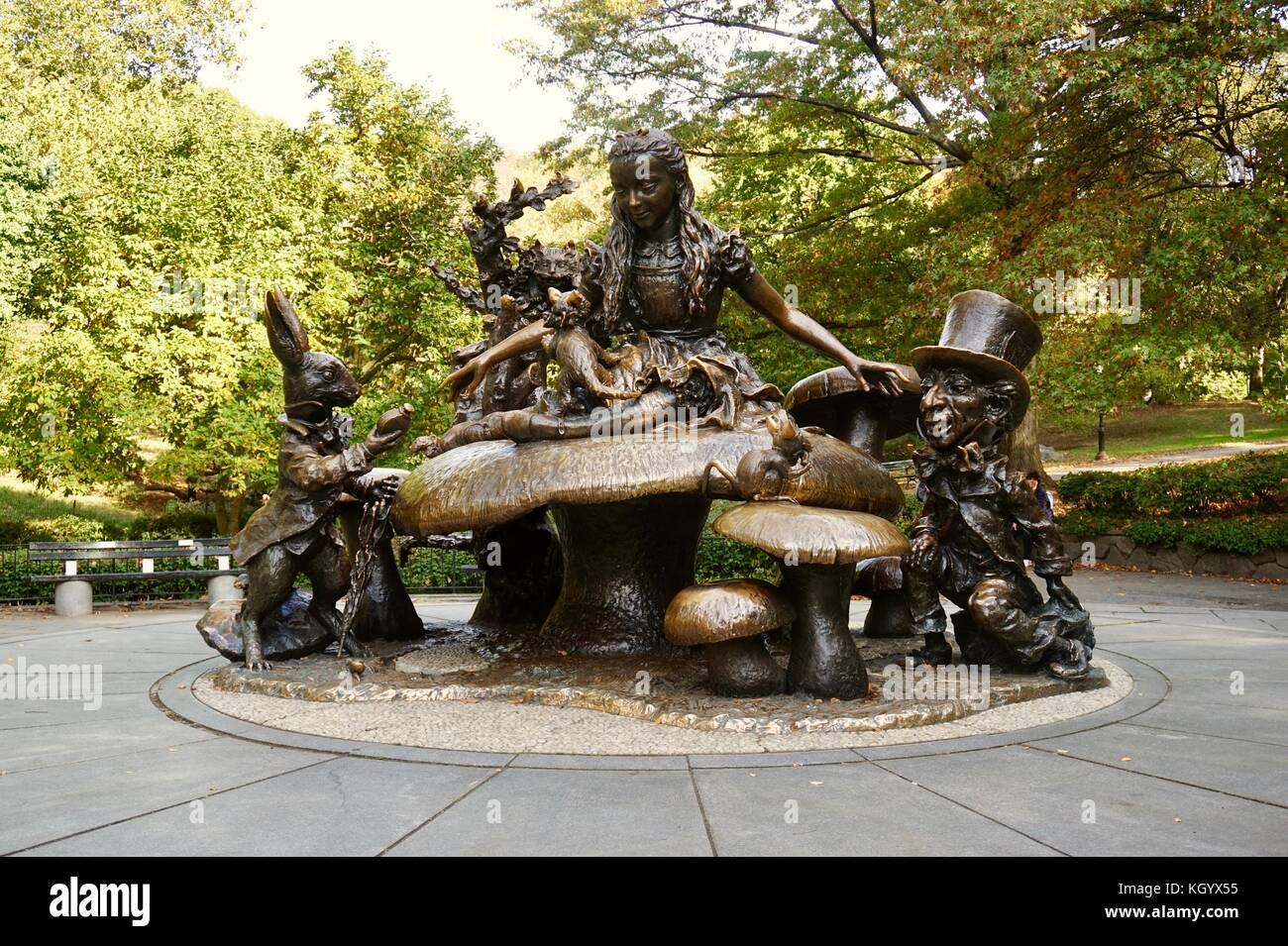 Alice im Wunderland Stockbild