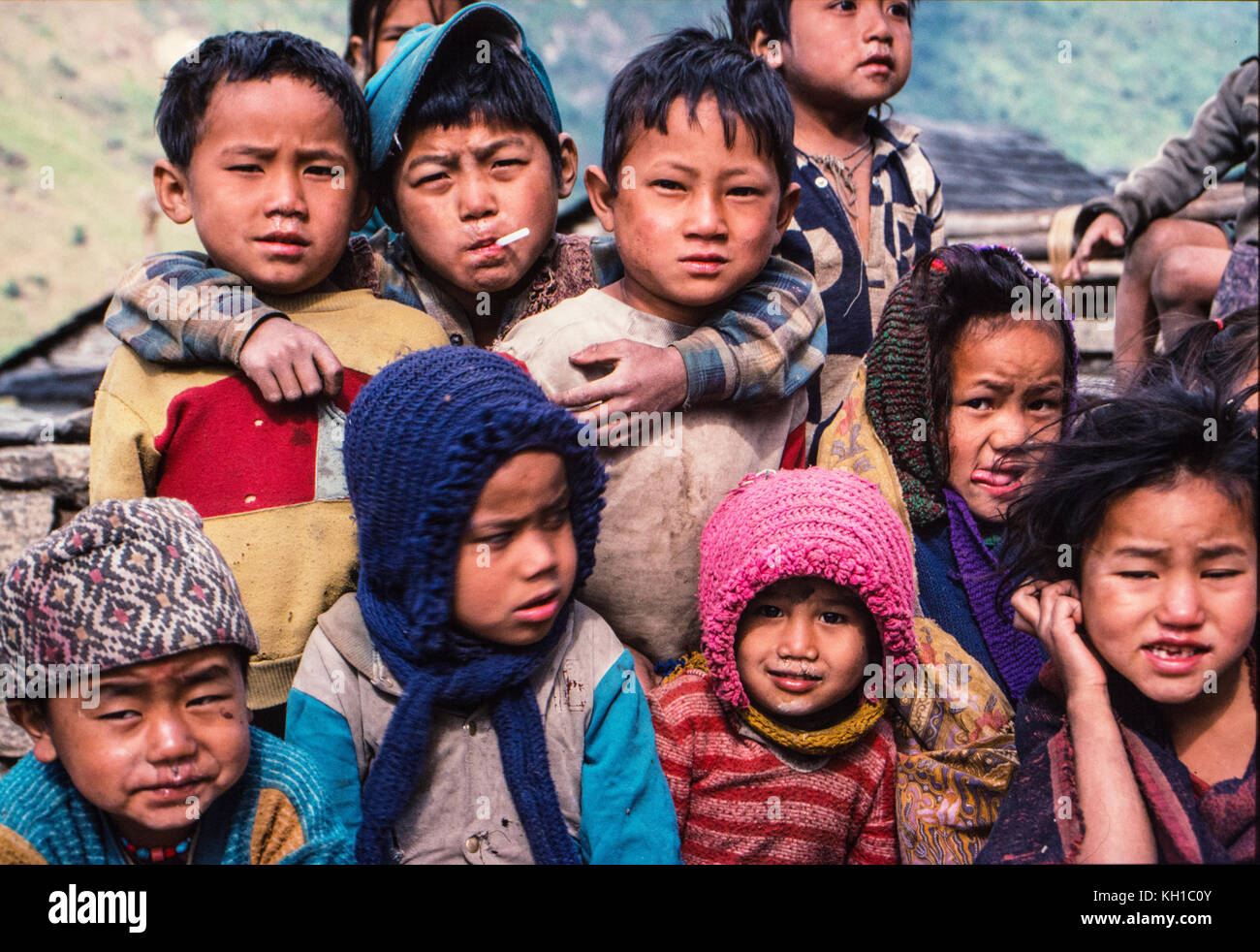 Nepal: Land Kinder Stockbild