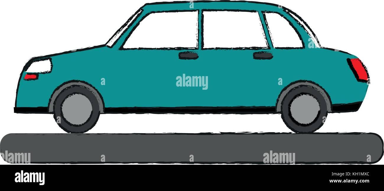 Auto Seitenansicht Fahrzeug Stockbild