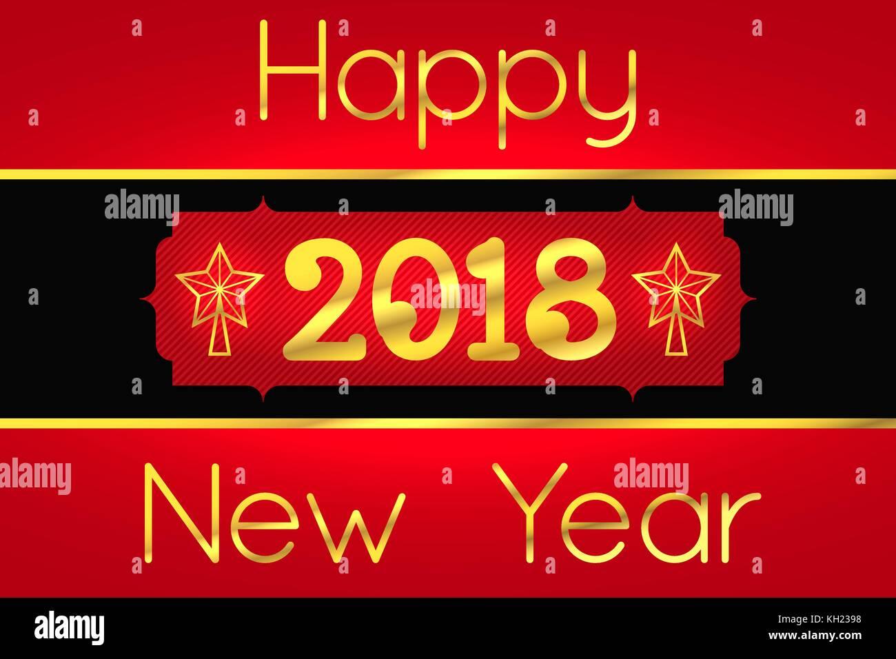 Happy New Year 2018 Vector Stockfotos & Happy New Year 2018 Vector ...