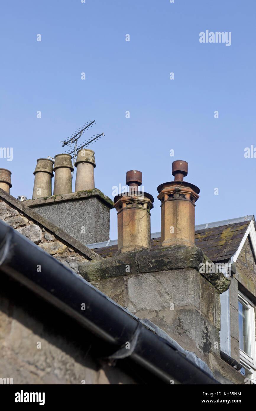 Schornsteine, Altstadt, Stirling, Schottland, Großbritannien Stockbild