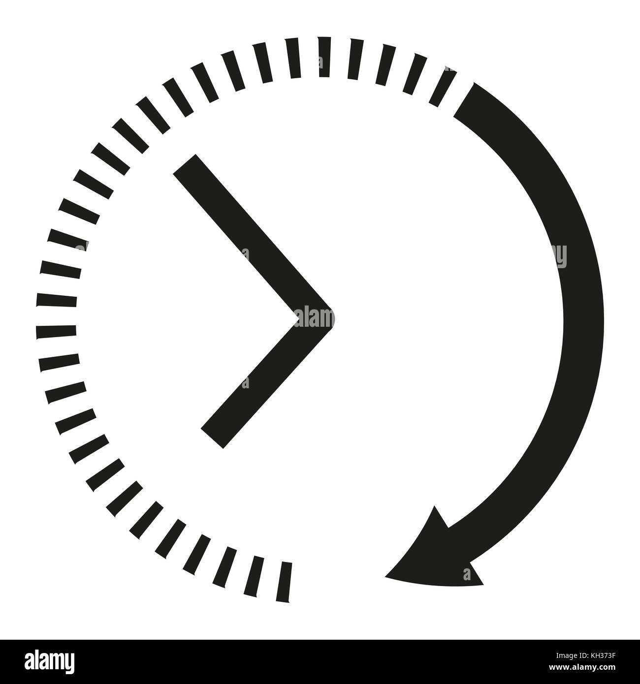 symbol uhr schwarze und weisse uhr pfeile vektor abbildung bild 165413907 alamy. Black Bedroom Furniture Sets. Home Design Ideas