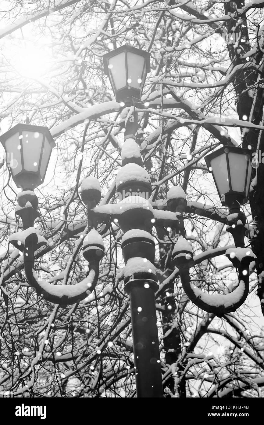 Eisen Lampe straße eisen lampe winter stockfoto, bild: 165413931 - alamy