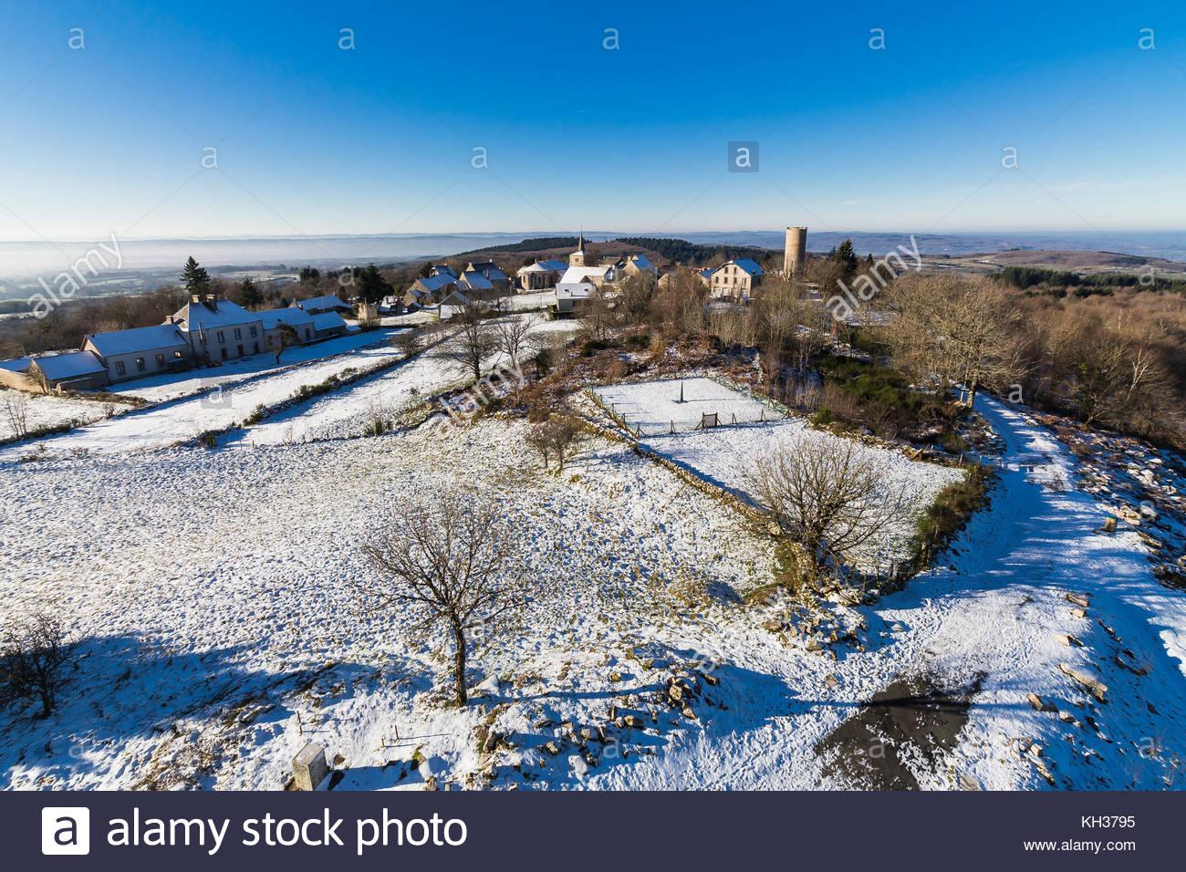 Toulx-Sainte-Croix ist eine französische Gemeinde im Département Creuse Departement in der Nouvelle-Aquitaine Stockbild