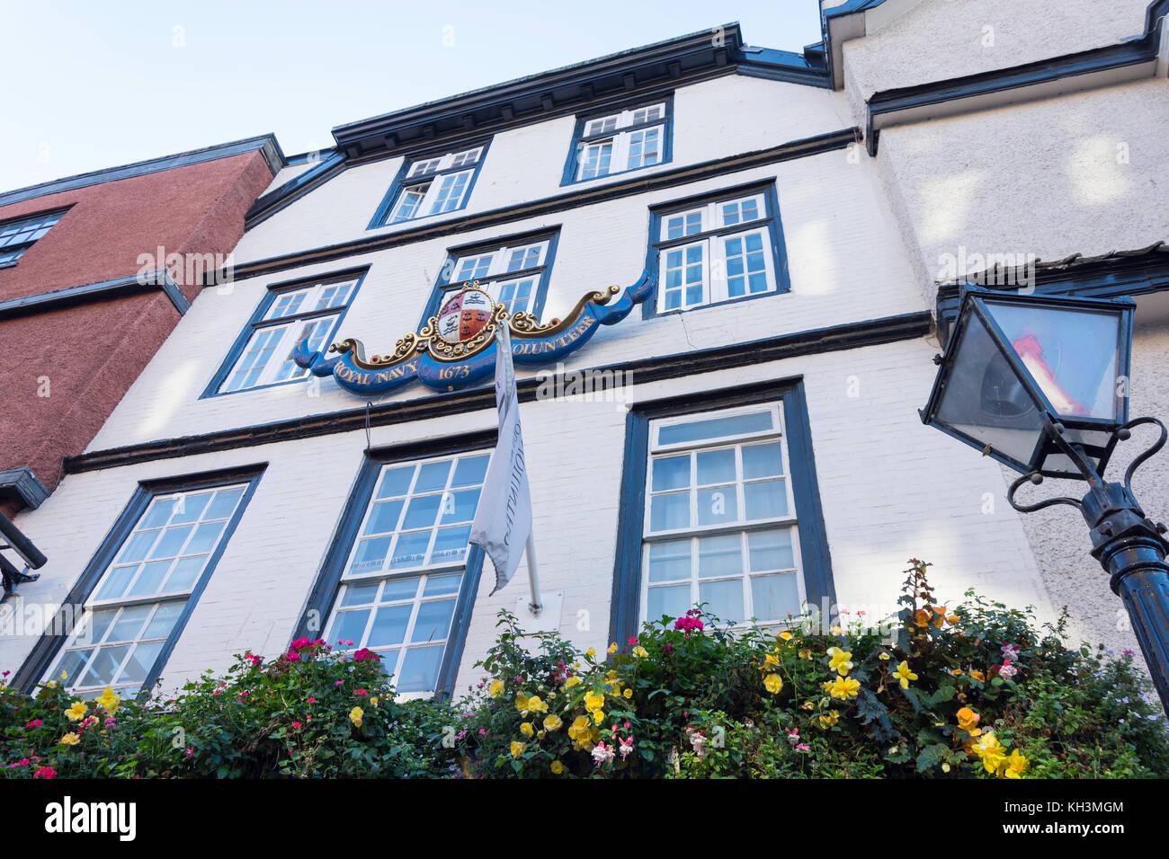 17. Jahrhundert Die berühmten Royal Navy Volunteer Pub, King Street, Old City, Bristol, England, Vereinigtes Stockbild