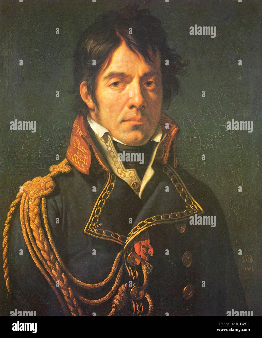 Dominique Jean larrey, französischer Chirurg in der Grande Armée Napoleons und ein wichtiger Innovator Stockbild