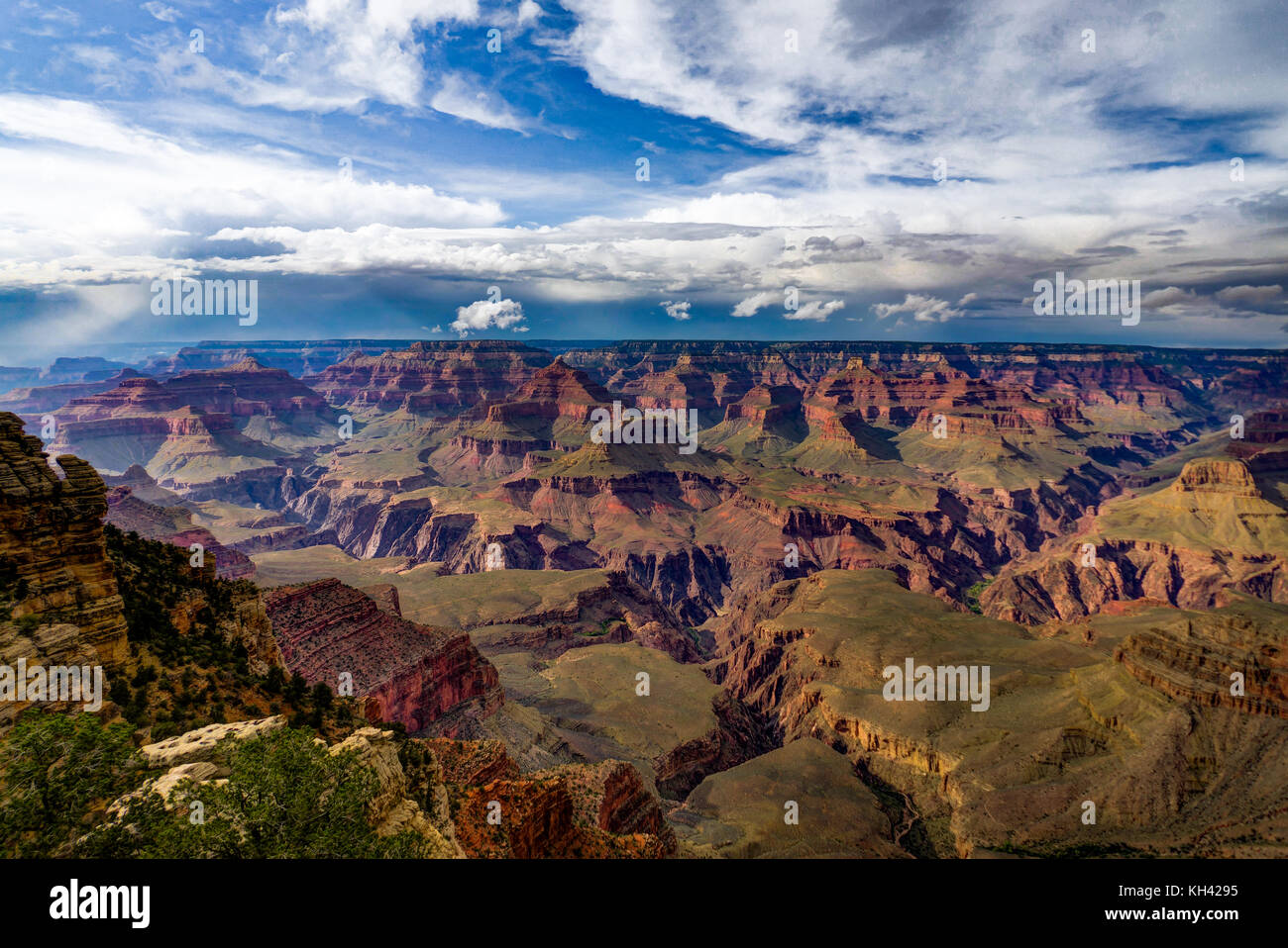 Blick über den Grand Canyon South Rim Arizona Stockbild
