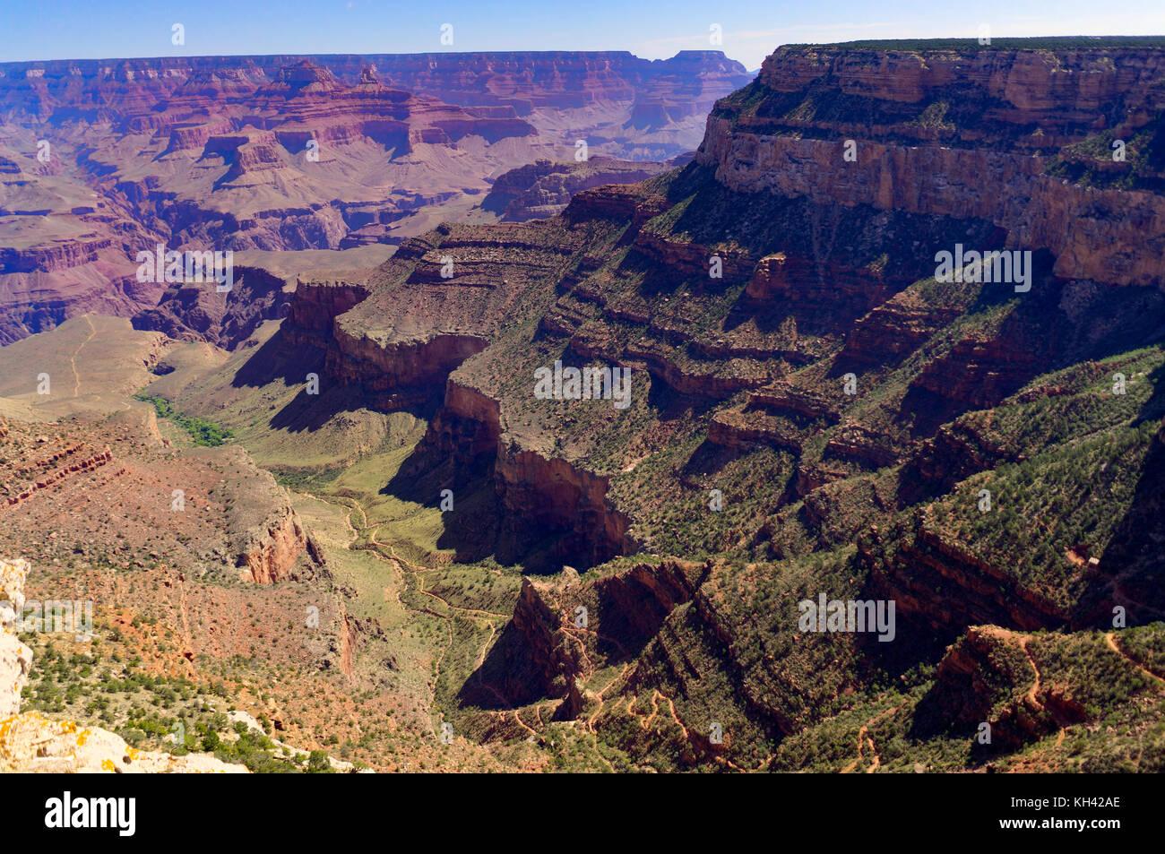 Blick über den Grand Canyon South Rim Arizona Stockbild