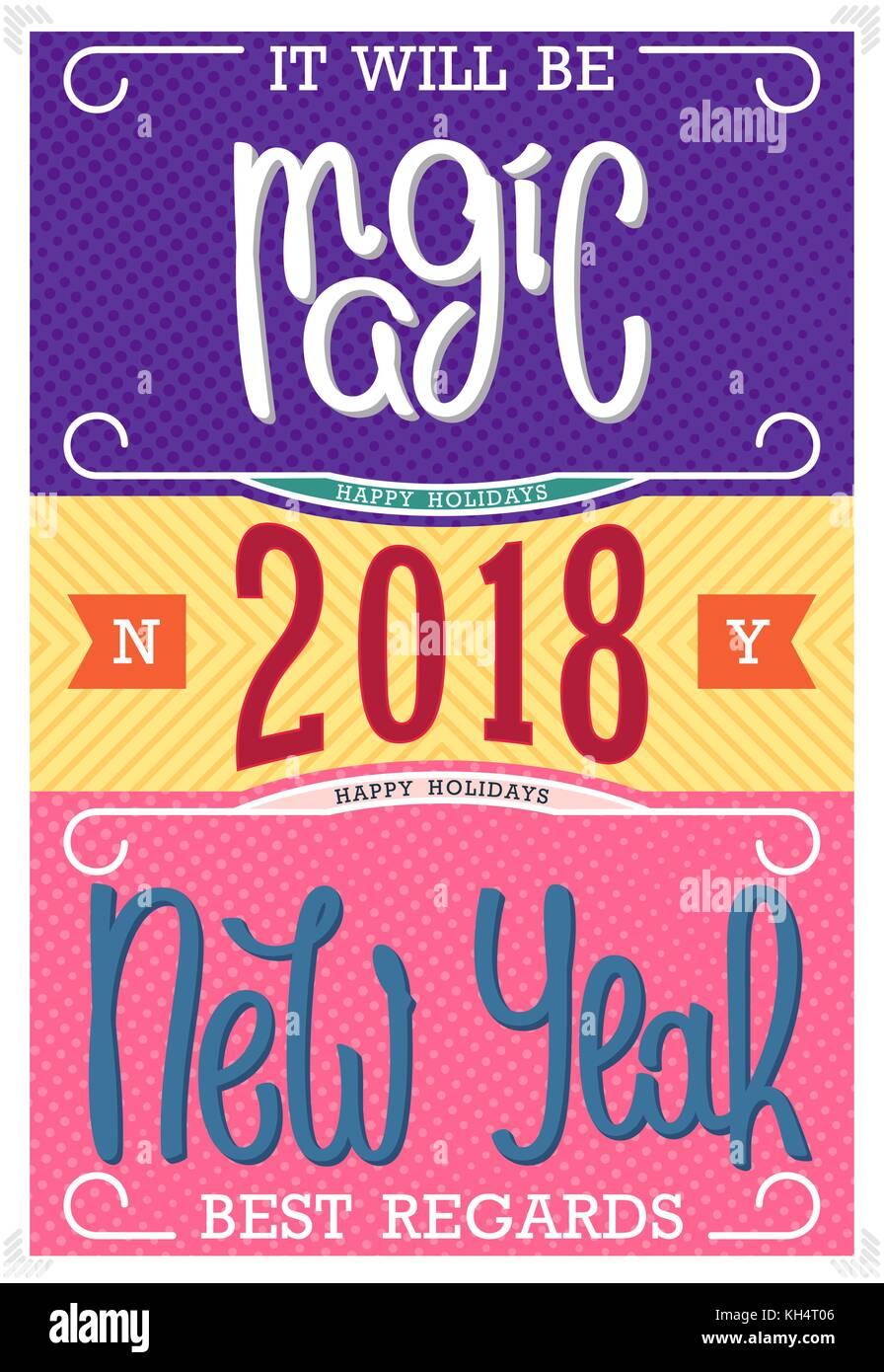 New Year 2018 Vector Vectors Stockfotos & New Year 2018 Vector ...