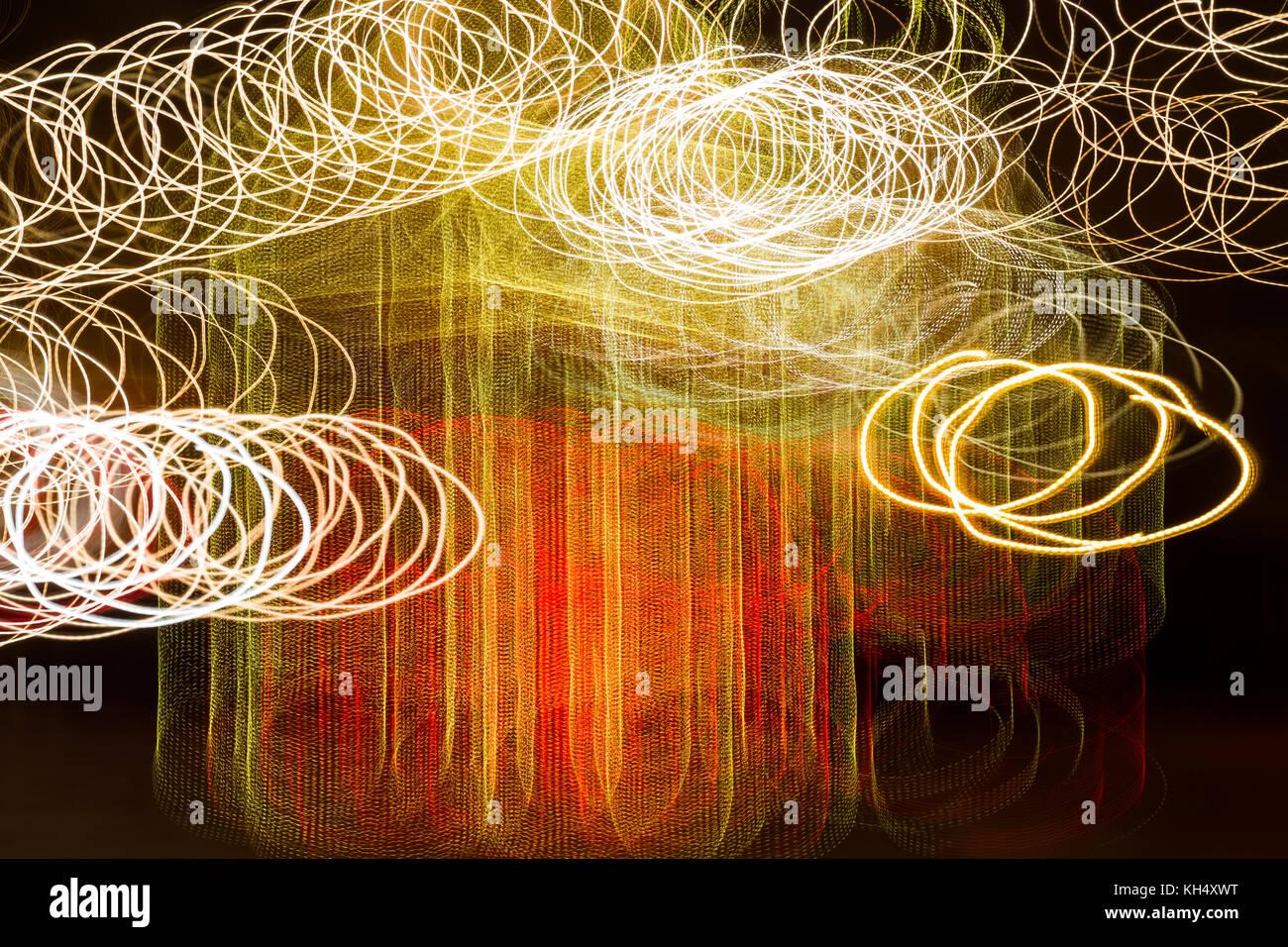 Lichtmalerei abstrakt Stockbild