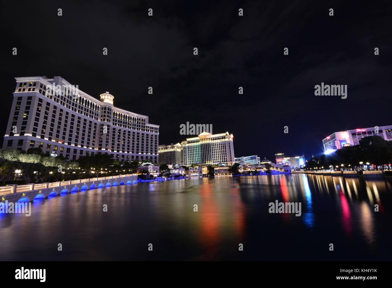 Las Vegas, Nevada - Juli 25: Bellagio Hotel und Casino am 25. Juli 2017 in Las Vegas Bellagio ist ein luxuriöses Hotel und Kasino auf dem Las Vegas. Stockfoto