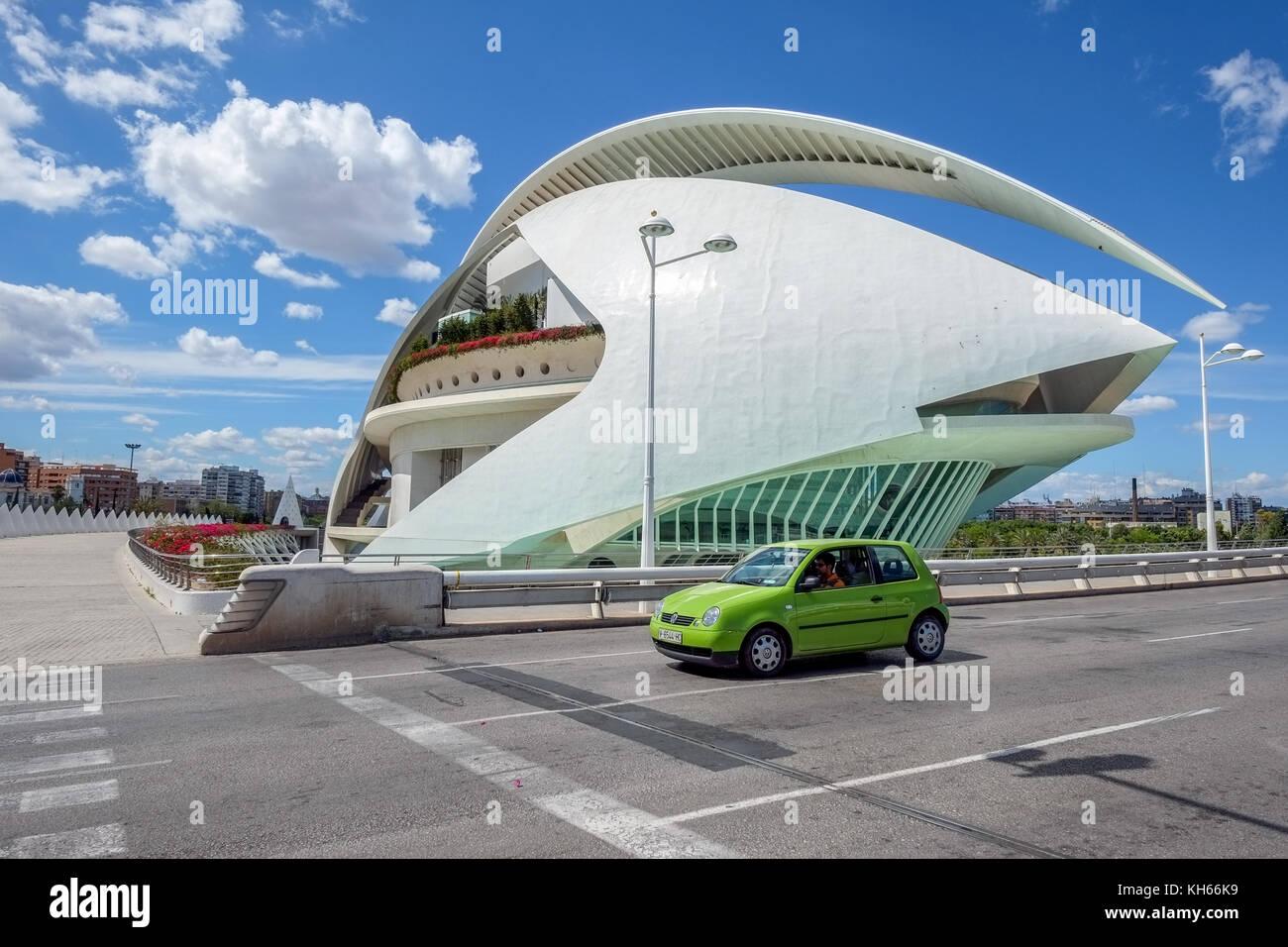 Stadt der Künste und Wissenschaften in Valencia, Spanien Stockbild