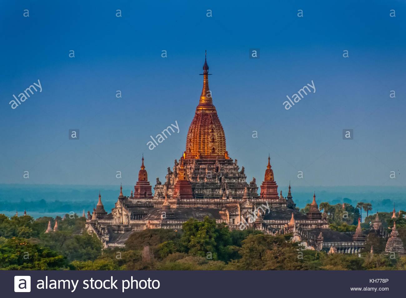 Das Ananda Tempel, Alt Bagan, Myanmar Stockbild
